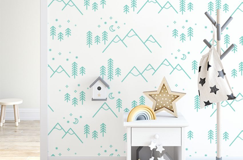 Make Your Dream Nursery With Temporary Wallpaper For The Perfect Look.